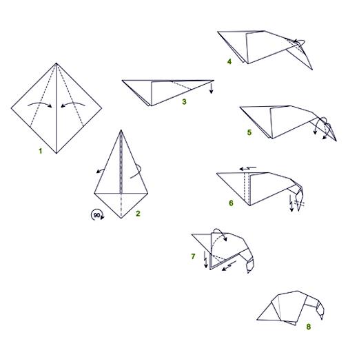 origami goose engagement